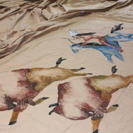 Indianer jager bison malet TIPI Autentisk