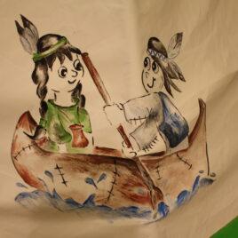 indianer børn malet TIPI