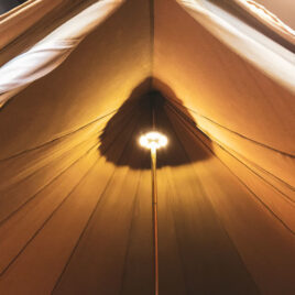 telt lys LED